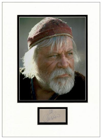 Oliver Reed Autograph Display - Gladiator